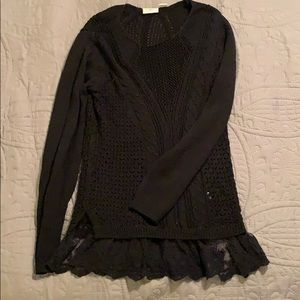 Girls black sweater